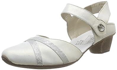 b49d44e70f43ad Rieker 49752/80, Escarpins femme - Blanc (Blanc Combiné), 36 EU (3.5 ...