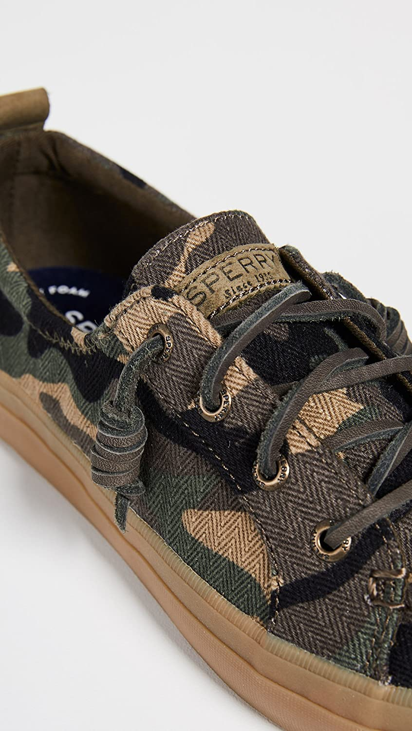 Sperry Women's Crest Vibe Camo Sneakers B07FF2FNM9 6.5 B(M) US Olive