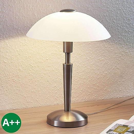 Lámpara de mesa Tibby (Retro, Vintage) en Gris hecho de Metal ...