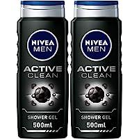 NIVEA MEN Active Clean Shower Gel 2x500ml