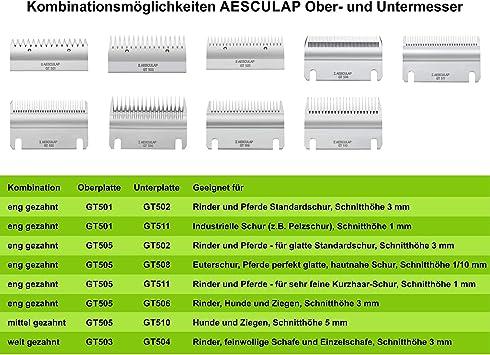 Aesculap Accessoires de rasage Peigne Aesculap GT 502/sous plaque 31Z 3/mm hauteur de coupe
