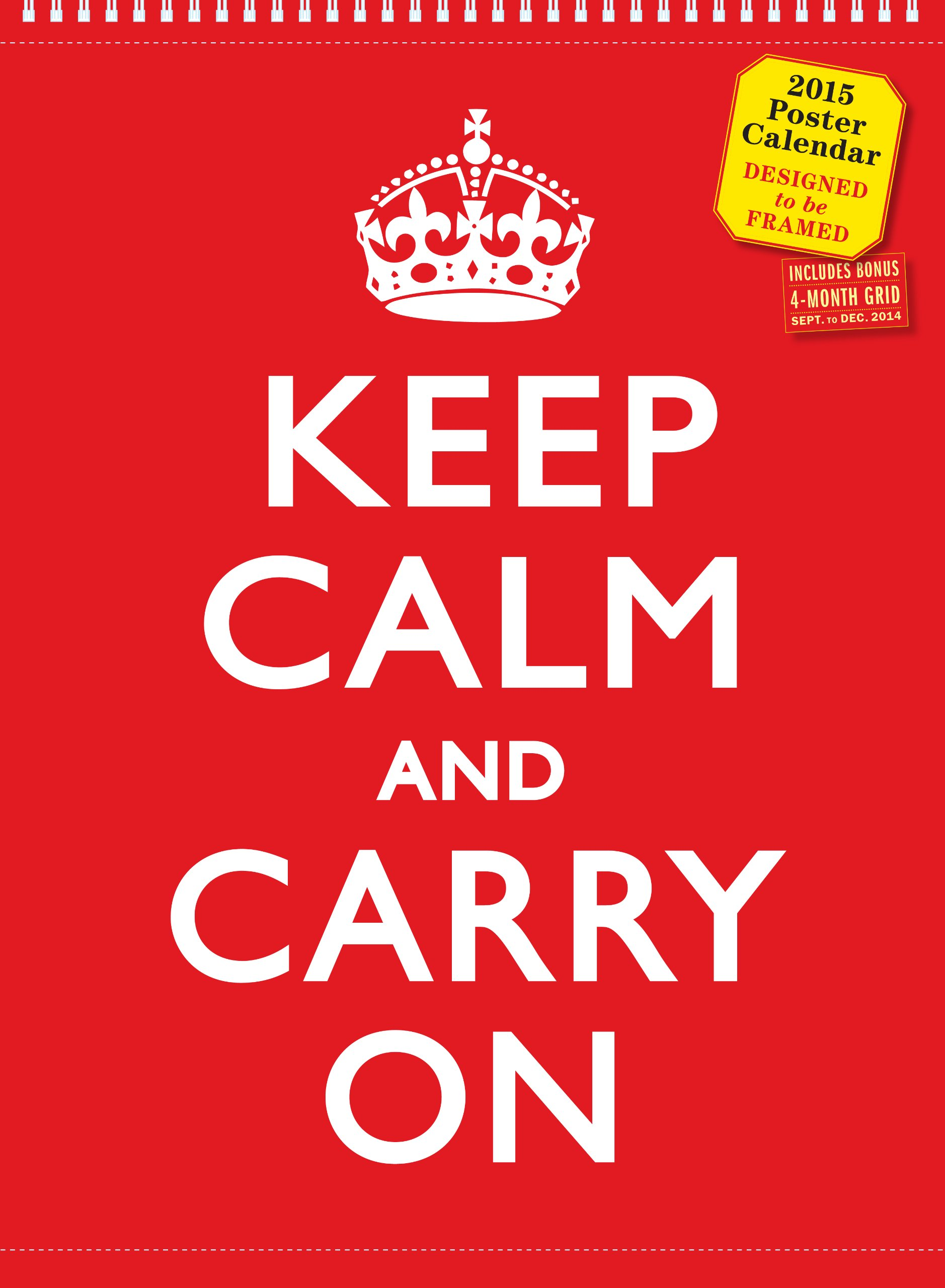 Keep Calm Carry Poster Calendar product image