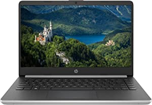 "Latest Premium HP 14 HD Slim Laptop Computer PC- 14"" Micro-Edge Display 10th Gen Intel Core i5-1035G1 Up to 3.6 GHz 8GB RAM 256GB PCIe SSD + 16GB Optane BT USB Type-C WiFi HDMI Webcam Win 10 -Silver"