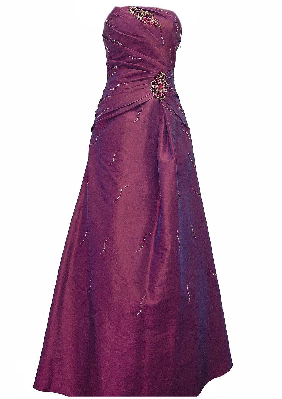 JuJu & Christine Langes Damen Taft Abendkleid (A2057) mit Träger vers. Farben Gr. 34 - 42