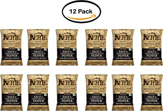 product image for PACK OF 12 - Kettle Brand Krinkle Cut Potato Chips, Salt & Fresh Ground Pepper, 8.5 Oz