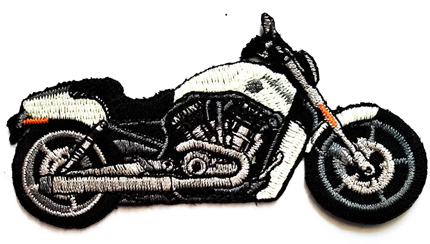 Nipitshop Patches Blue Motorcycle Motocross Racing Dirt Bike Off-Road Cartoon Kid Baby Girl Jacket T-Shirt Patch Sew Iron on Embroidered Sign Badge Costume Clothing
