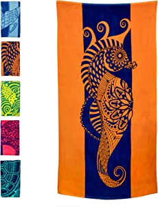 Red and Navy Colors Hsn-Fnr Bath Towel Colorful Towel 40x70 Beach Towel