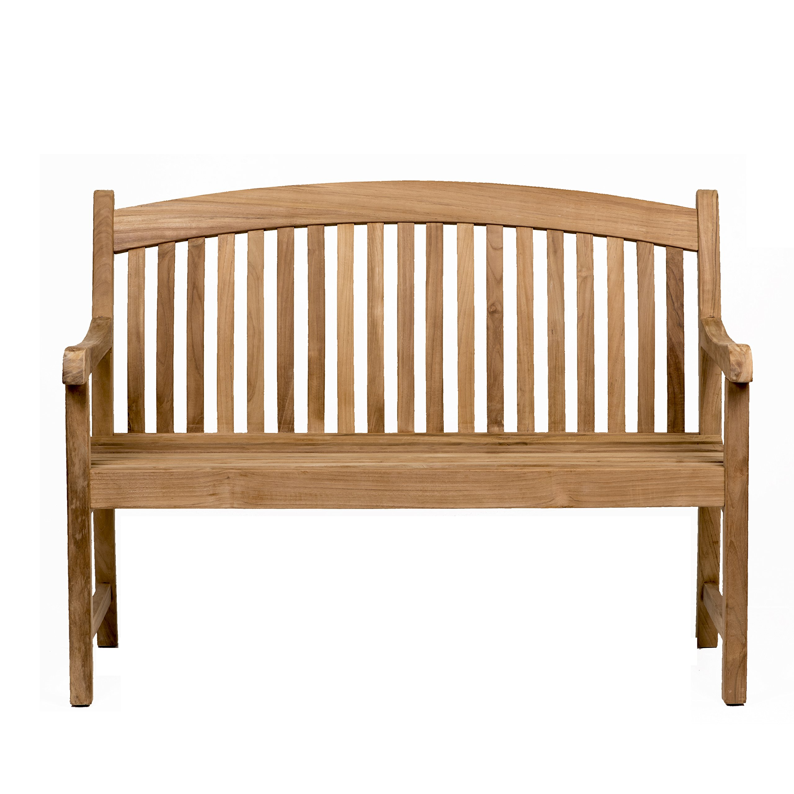 Amazonia Newcastle Patio Bench  Made of Real Teak  Perfect for backyards, Gardens or Parks, Light Brown