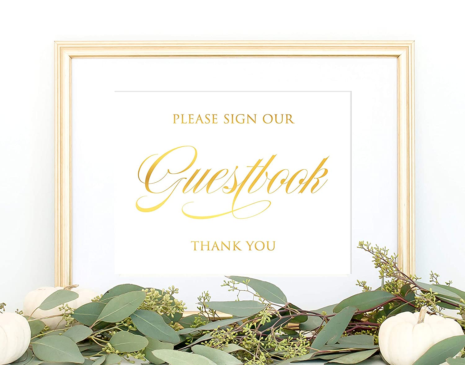 Guestbook Sign In Decorations Wedding Guest Book Sign Gold Foil Wedding Signage