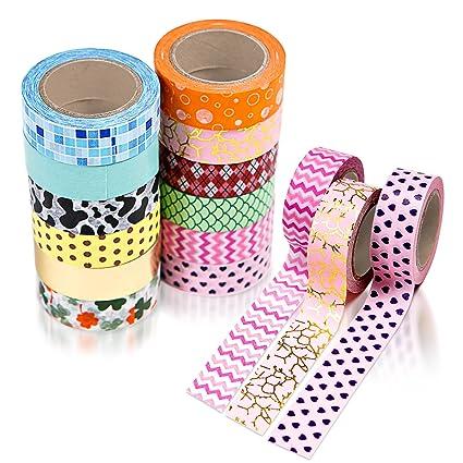 Amazon 12 Washi Tape Set Colored Tape Scrapbook Stickers
