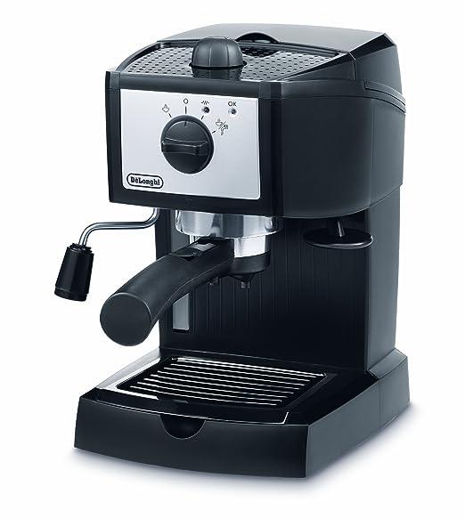DeLonghi EC152.CD - Cafetera espresso, 1100 W, 1 litro de capacidad, 15 bares