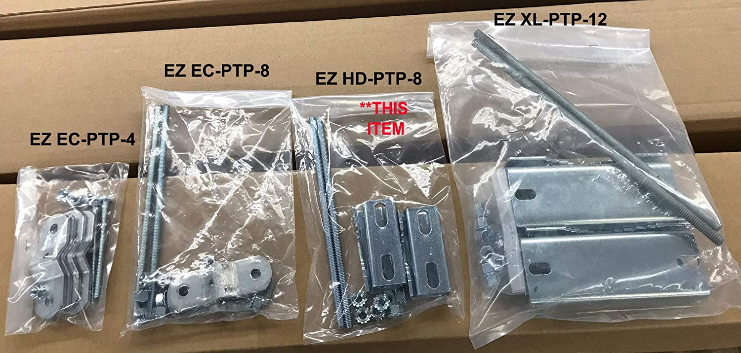 Heavy Duty Pole to Pole Mast Bracket Clamps Only Antenna Easy Up EZ HD-PTP-6S