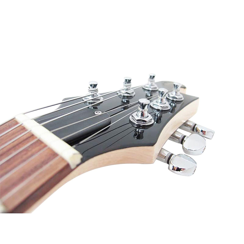 Vorson eglst Vbl (guitarelle - Guitarra eléctrica (con funda, color azul metálico, negro: Amazon.es: Instrumentos musicales