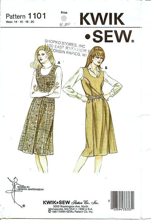 Amazon Kwik Sew 1101 Misses Jumper With Scoop Neckline Sewing