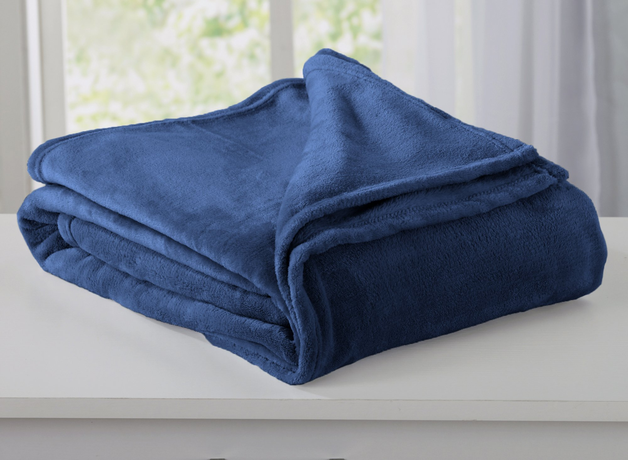 Home Fashion Designs Marlo Collection Ultra Velvet Plush All-Season Super Soft Luxury Bed Blanket. Lightweight and Warm for Ultimate Comfort. By Brand. (King, Navy)