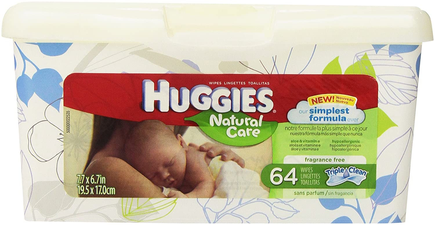 Huggies Natural Care Unscented Baby Wipes Tub - 64ct, Model: by Kimberly-Clark   B00DF70ER4