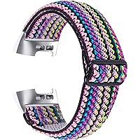Chofit Bandje, compatibel met Fitbit Charge 4 bandjes, verstelbare geweven nylon streep, elastische armbanden…