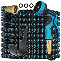 Gardguard 25ft Garden Hose Expandable: Expandable Water Hose with Durable 3-Layers Latex and 9 Function Nozzle, Durable…
