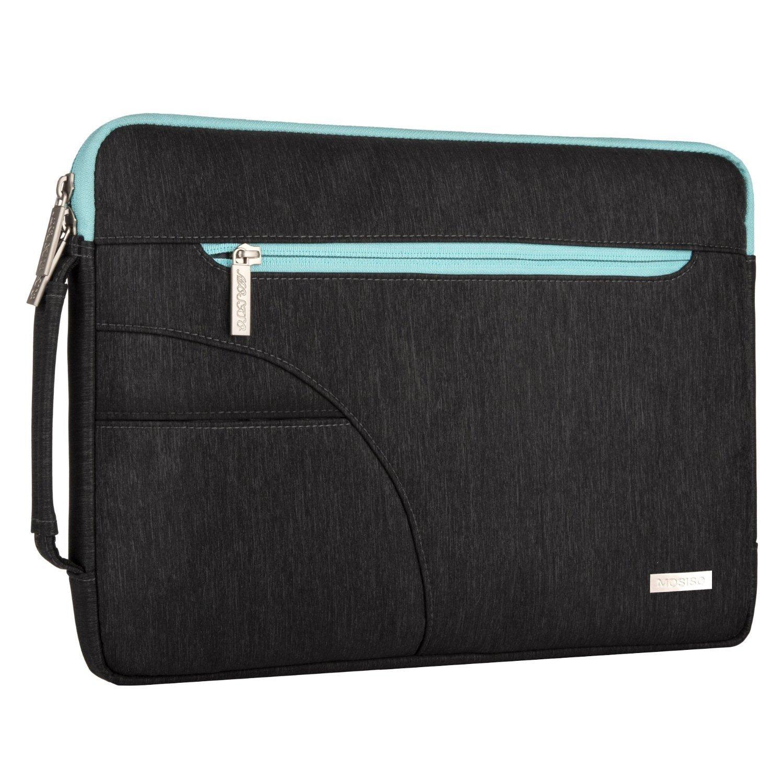 Noir et Bleu Chaud MOSISO Housse Compatible 13-13,3 Pouces MacBook Air 13//MacBook Pro Retina 13//MacBook Pro 13 avec CD-Rom,Polyester Hydrofuge Serviette Ultraportable Sac Bandouli/ère