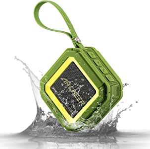 Archeer A106 Outdoor Portable Bluetooth Speakers with Microphone Powerful 5W Driver with Enhanced Bass 20 hour Playtime for Shower/Sports Green
