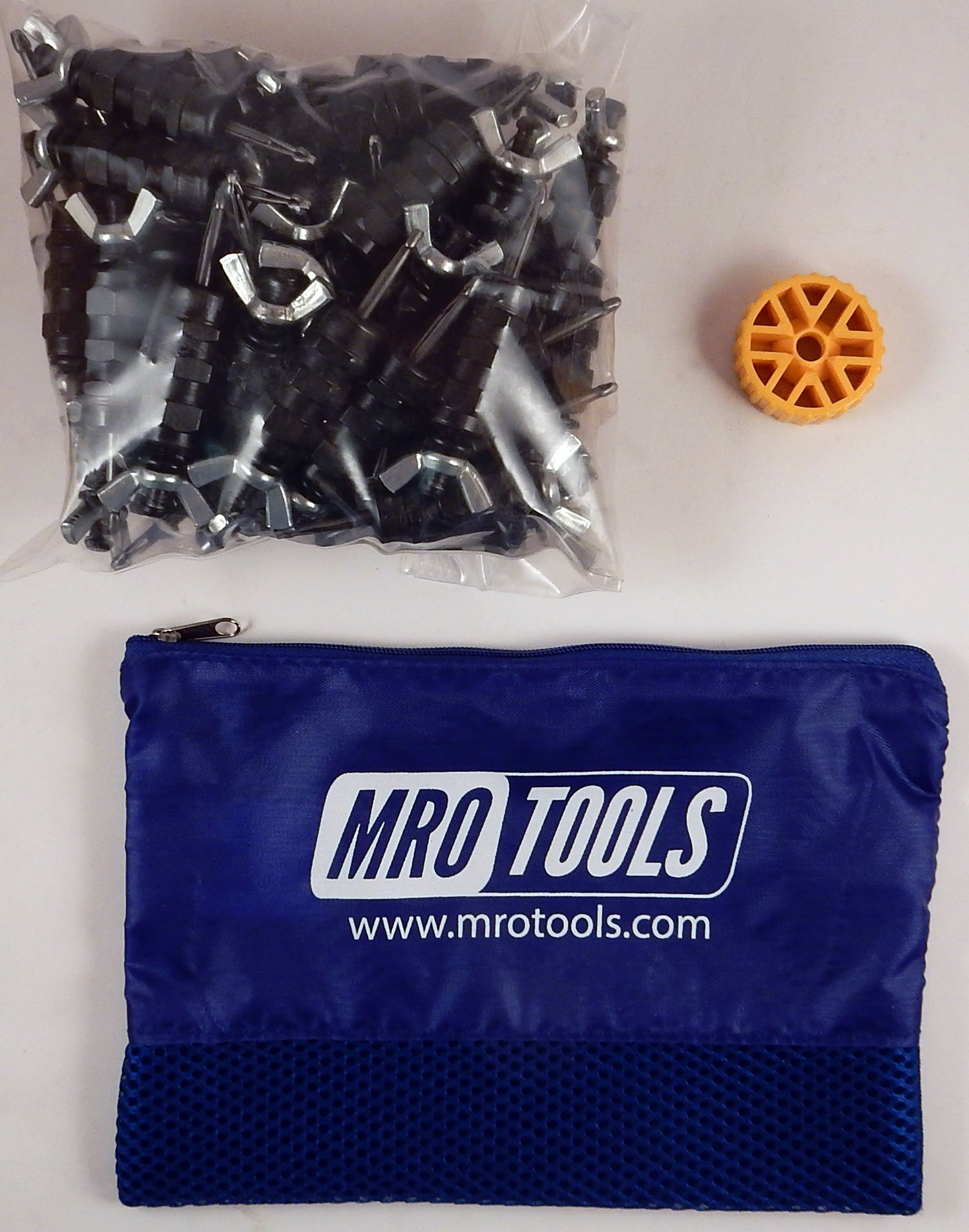 50 5/32 Standard Wing-Nut Cleco Fasteners w HBHT Tool & Carry Bag (KWN1S50-5/32)