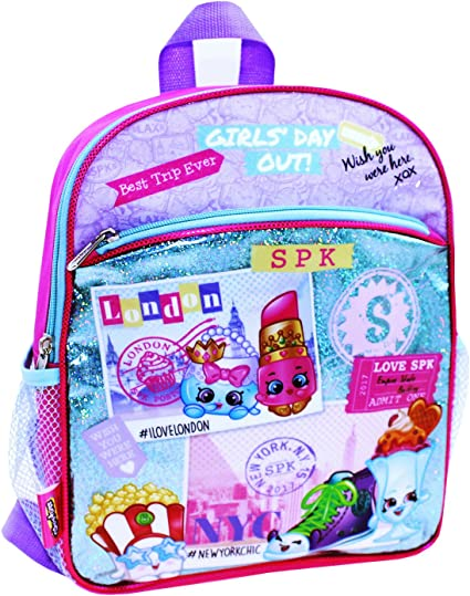 Shopkins Girls Backpack Kids Nursery Bag Rucksack School Shoulder Bags Pink