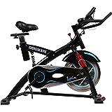 スピンバイク フィットネスバイク 肉厚サドル 静音 15kgホイール サスペンション搭載 美しいフォルム 小型 人間工学設計 ルームバイク LS-2000T