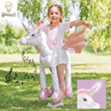 3ec6ddce3984 Ride on Unicorn Girls Fancy Dress Animal Fairy Tale Book Day Kids ...