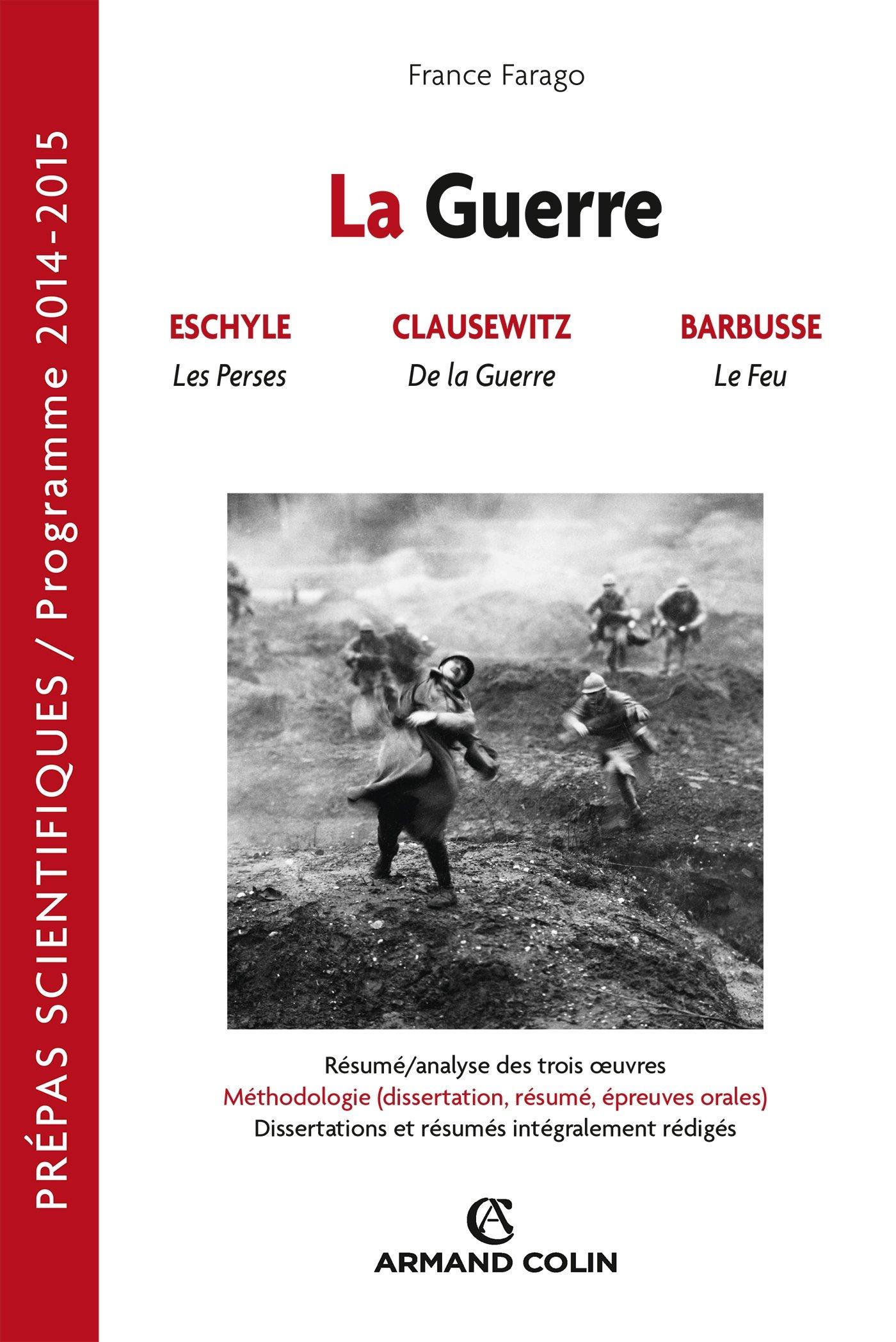 dissertation francais cpge la guerre