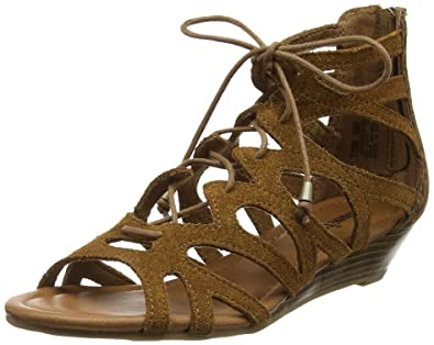 Minnetonka Women's Portofino Wedge Sandal,Dusty Brown Suede,US 9 M