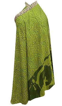 Sheshe - Falda - envolvente - para mujer Verde Green and Beige ...