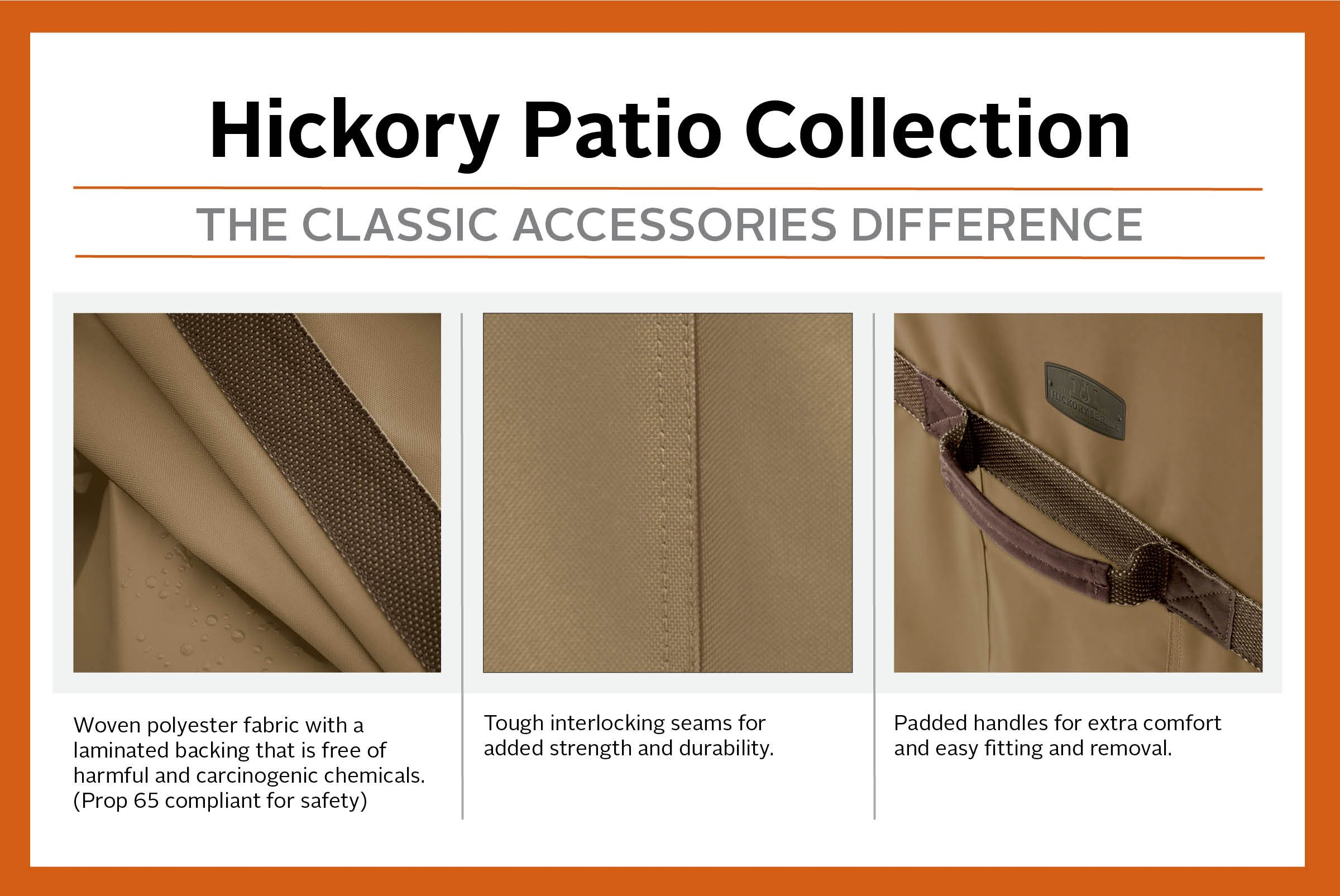 Classic Accessories Hickory Heavy Duty Standard Patio Chair Cover - Durable and Water Resistant Patio Set Cover (55-208-012401-EC) by Classic Accessories (Image #3)