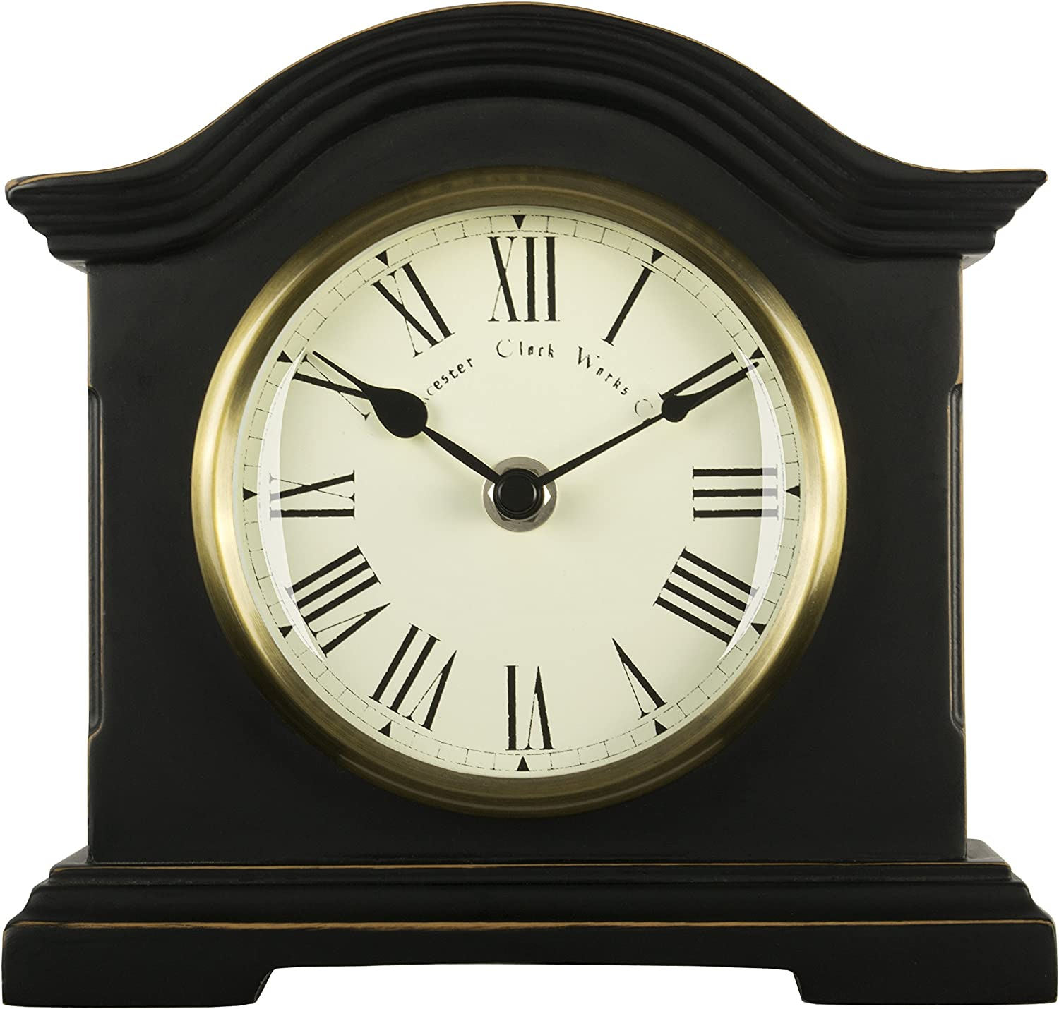 Towcester Clock Works Co. Acctim 33283 Falkenburg Reloj de Chimenea, Color Negro