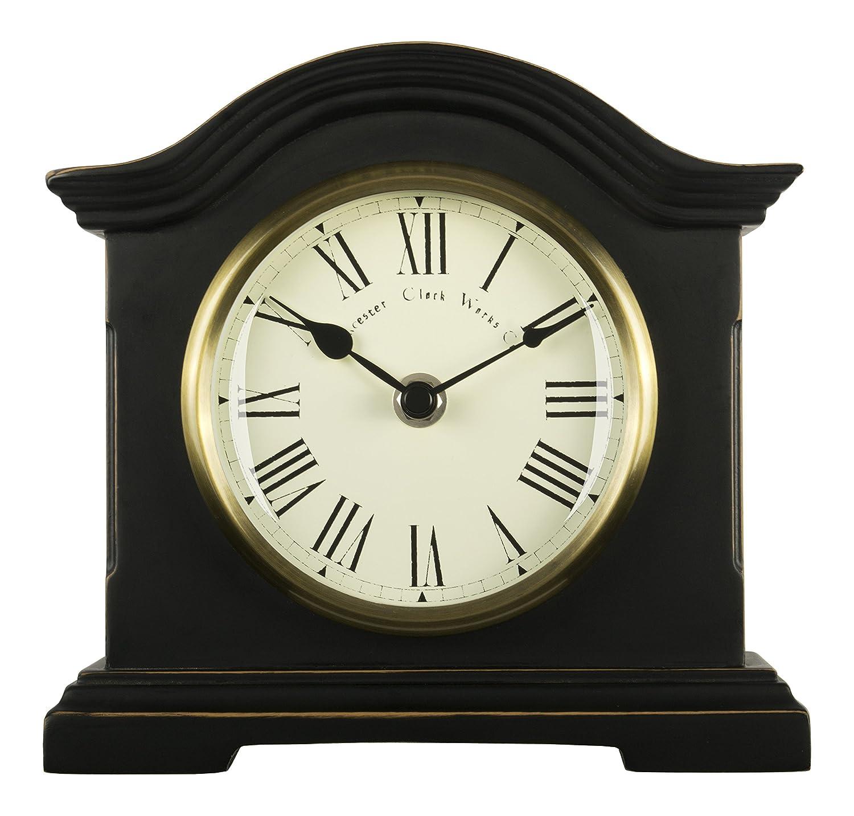 Acctim 33283 Falkenburg Mantel Clock, Black Towcester Clock Works Co.