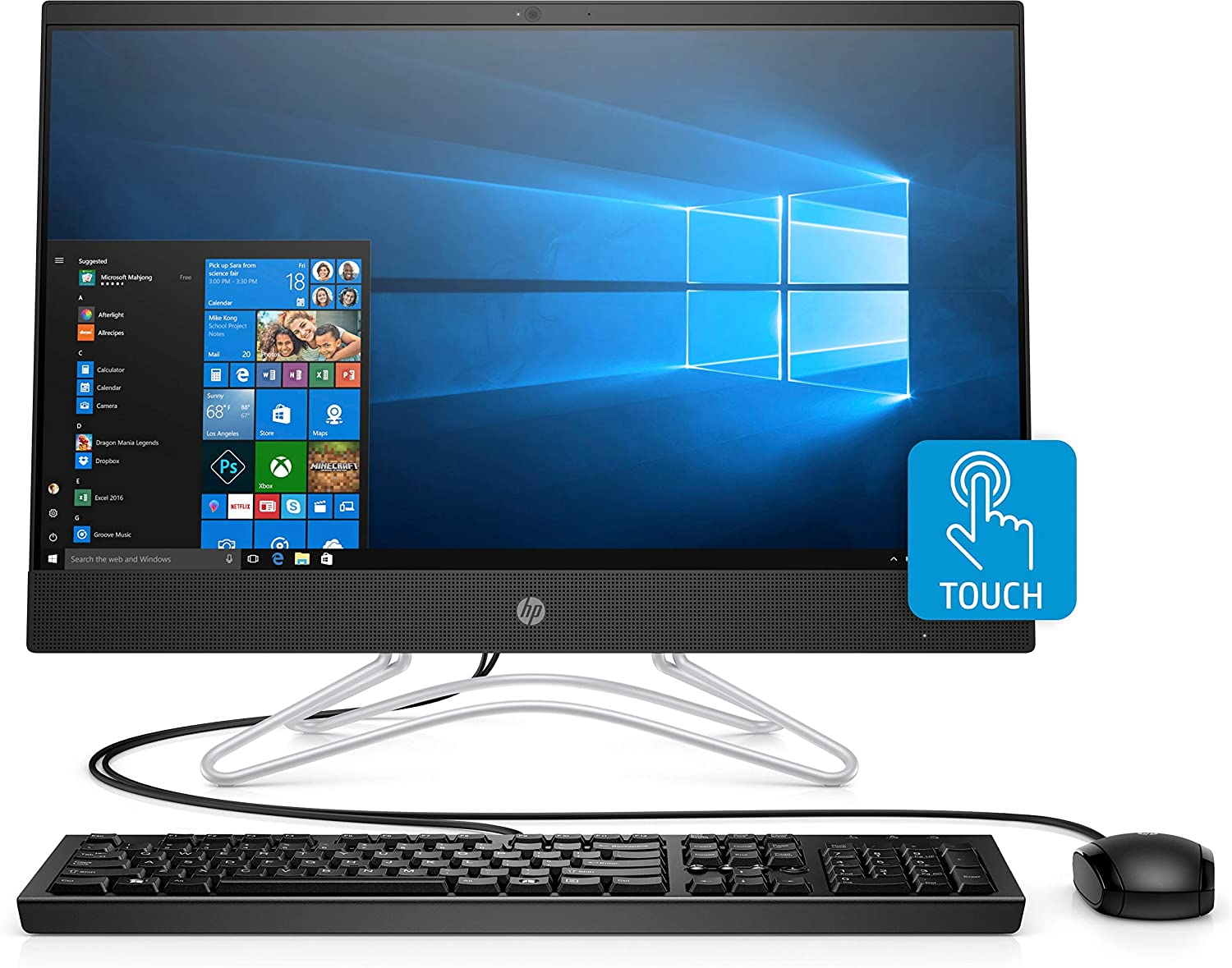 "HP 24-f0037c All In One Touchscreen Full HD 23.8"" Desktop, Intel i5-8400T, 8GB Memory, 1TB HDD, Integrated Speakers, Optical Drive, Keyboard and Mouse, Windows 10 Home"