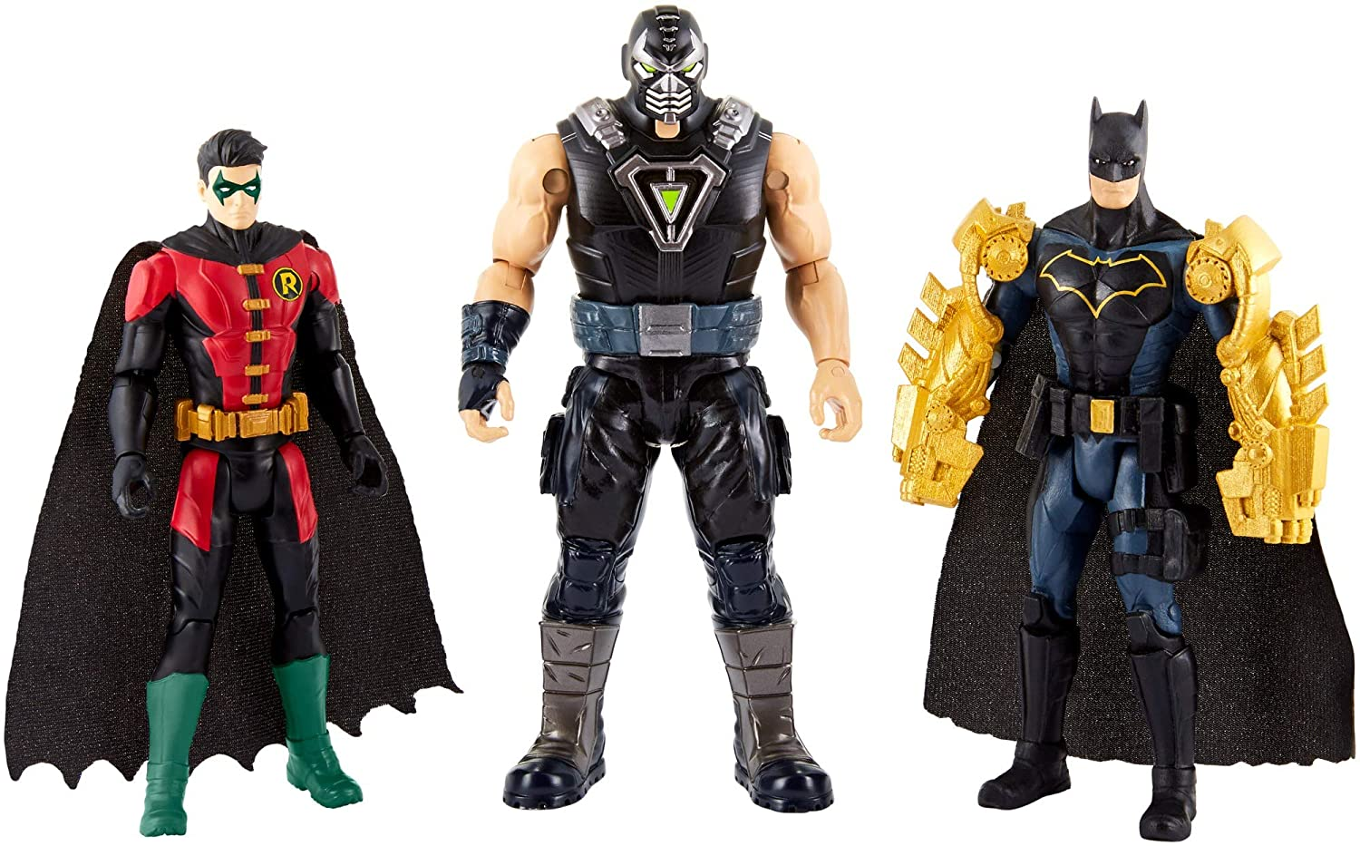 Batman FVM57 Missions and Robin Vs Bane Figure, Multi-Colour Mattel