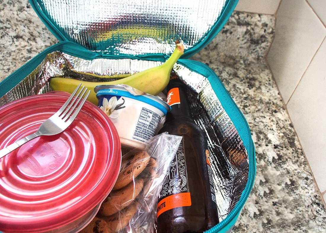 postrera p/ícnics verde azulado y gris vacaciones lasa/ña Cazuela t/érmica redonda aislada para almuerzo