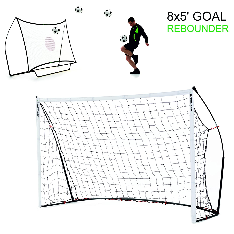 QUICKPLAY Kickster Combo 8 x 5' Football Goal & Rebounder Quick Play Sport Ltd Goal Post