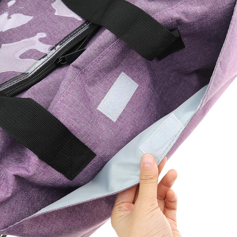 Bolsa de Ganchillo para Tejer Color Morado Create Idea Bolsa de Almacenamiento de Hilo port/átil para Llevar proyectos Agujas de Tejer y Ganchillo tama/ño Grande
