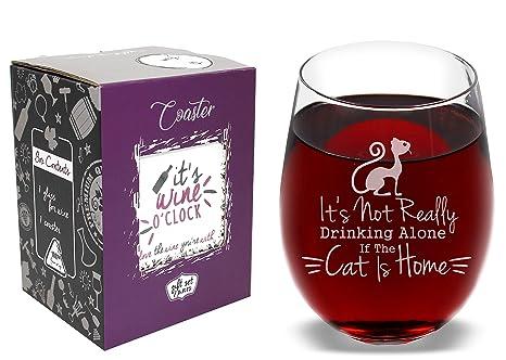 Amazon.com: No es realmente beber solo si el gato es Home ...