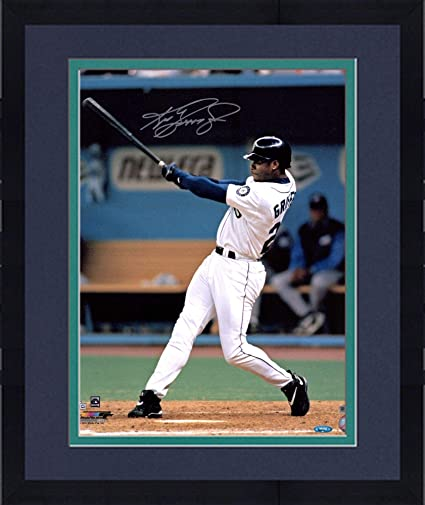 "16c4b4b929 Image Unavailable. Image not available for. Color: Framed Ken Griffey Jr. Seattle  Mariners Autographed 16"" x 20"" Action Photograph -"