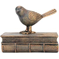 RAZ Imports The Back Porch 7.75-inch Bird on Book Figurine - Beautiful Seasonal Decor for Your Home