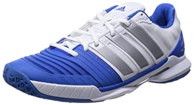adidas adiPower Stabil 11 Men's Court Shoes, White/Silver ...