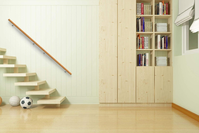 120cm, Acero inoxidable balaustrada balc/ón soporte de pared NAIZY 120cm pasamanos escalera de acero inoxidable para interiores y exteriores