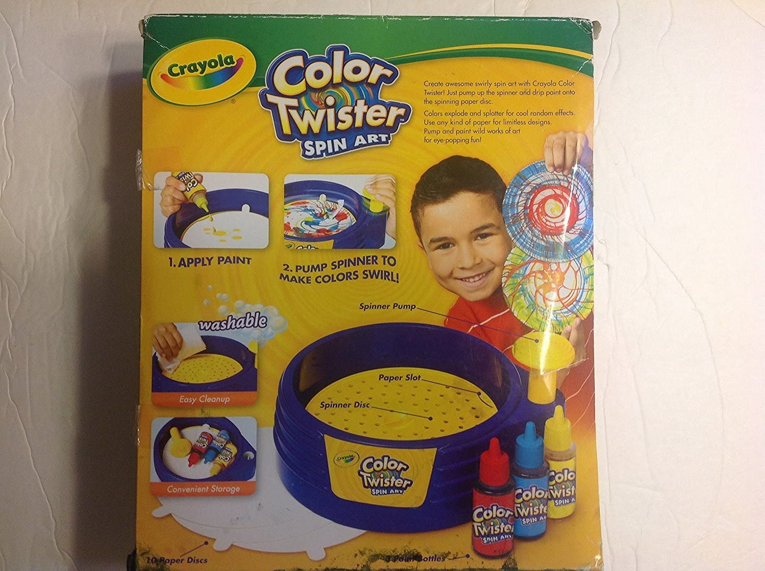 Barbie Doll 1:6 Miniature Toy Crayola Color Twister Spin Art for Toyroom