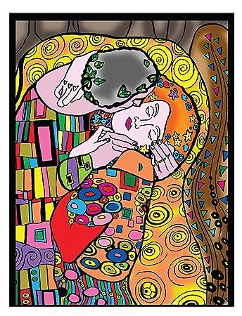 Colorvelvet 47 X 35 Cm Klimt Kiss Zeichnen Ausmalen System