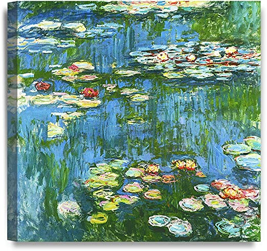 Blue Water Lilies by Claude Monet Giclee Museum Size Repro on Canvas
