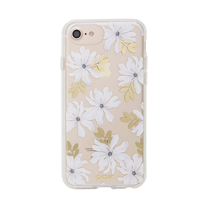 best service ab060 46b5c iPhone 8, 7, 6, Sonix GARDENIA (white flower) Cell Phone Case [Military  Drop Test Certified] Sonix Clear Coat Series for Apple (4.7