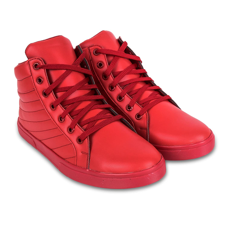 Buy jynx Men Red Sneakers at Amazon.in