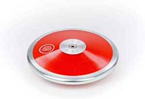 TC Red Ranger Girls Discus - 1 kg Discus - Track and Field Discus 1k - 1k Discus - High School/Middle School 1 kg Discus - Beginner Throwing Discus - Throwers Love How Easy This 1k Discus is to Throw